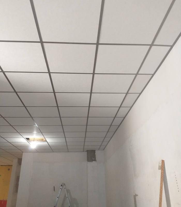 instalación de techo registrable