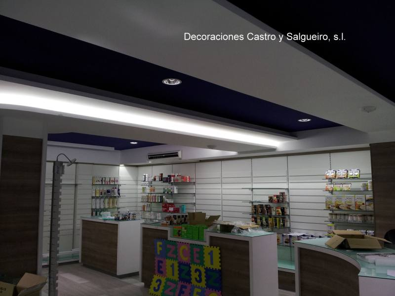 luces techo farmacia